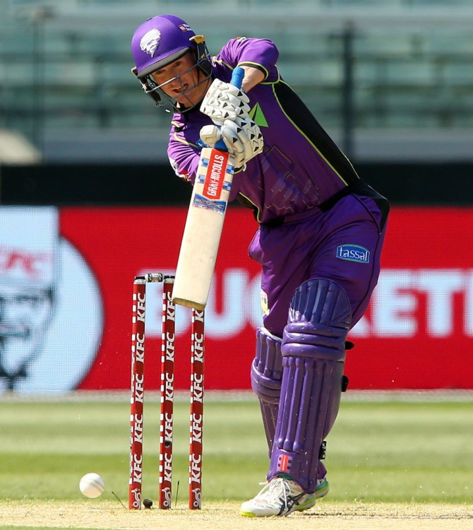 George Bailey 70 not out Melbourne Renegades Hobart Hurricanes Big Bash League BBL 23rd Match cricket