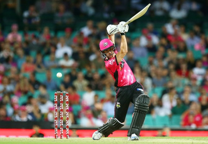 Joe Denly 76 Sydney Sixers Adelaide Strikers Big Bash League BBL 22nd Match cricket