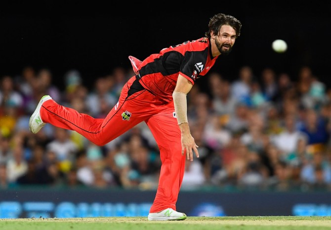 Kane Richardson three wickets Melbourne Renegades Sydney Sixers Big Bash League BBL 32nd Match cricket