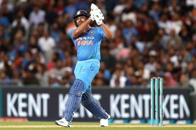 Rohit Sharma 50 New Zealand India 2nd T20 Auckland cricket