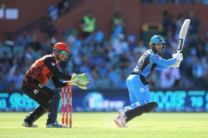 Jonathan Wells 69 Adelaide Strikers Perth Scorchers Big Bash League 54th Match cricket