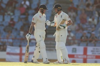 Jos Buttler 67 not out Ben Stokes 62 not out West Indies England 3rd Test Day 1 St Lucia cricket