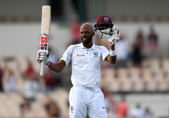 Roston Chase 102 not out West Indies England 3rd Test Day 4 St Lucia cricket