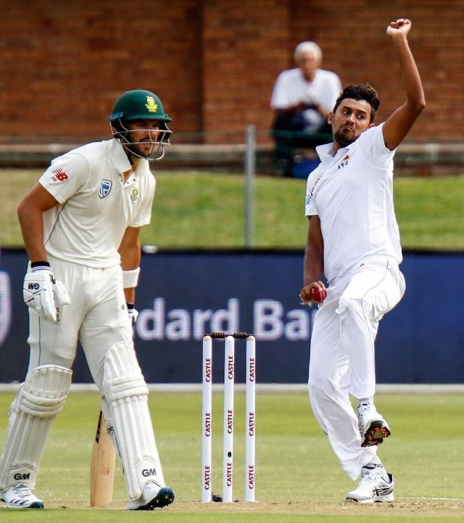 Suranga Lakmal four wickets South Africa Sri Lanka 2nd Test Day 2 Port Elizabeth cricket
