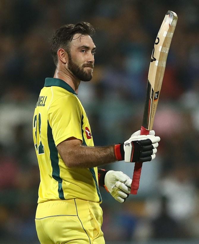 Glenn Maxwell 113 not out India Australia 2nd T20 Bangalore cricket