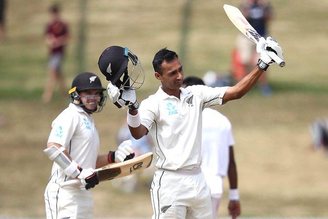 Jeet Raval 132 New Zealand Bangladesh 1st Test Day 2 Hamilton cricket