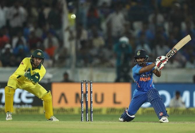 Kedar Jadhav 81 not out India Australia 1st ODI Hyderabad cricket