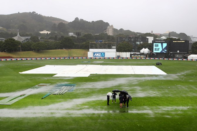 Rain washes out 1st day of 2nd Test between New Zealand and Bangladesh Wellington cricket