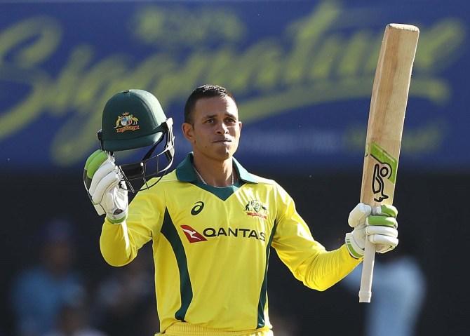 Usman Khawaja 104 India Australia 3rd ODI Ranchi cricket