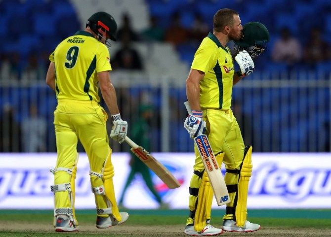Aaron Finch 116 Pakistan Australia 1st ODI Sharjah cricket