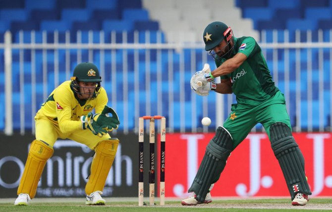 Mohammad Rizwan 104 Pakistan Australia 4th ODI Dubai cricket