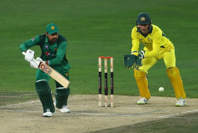 Haris Sohail 130 Pakistan Australia 5th ODI Dubai cricket