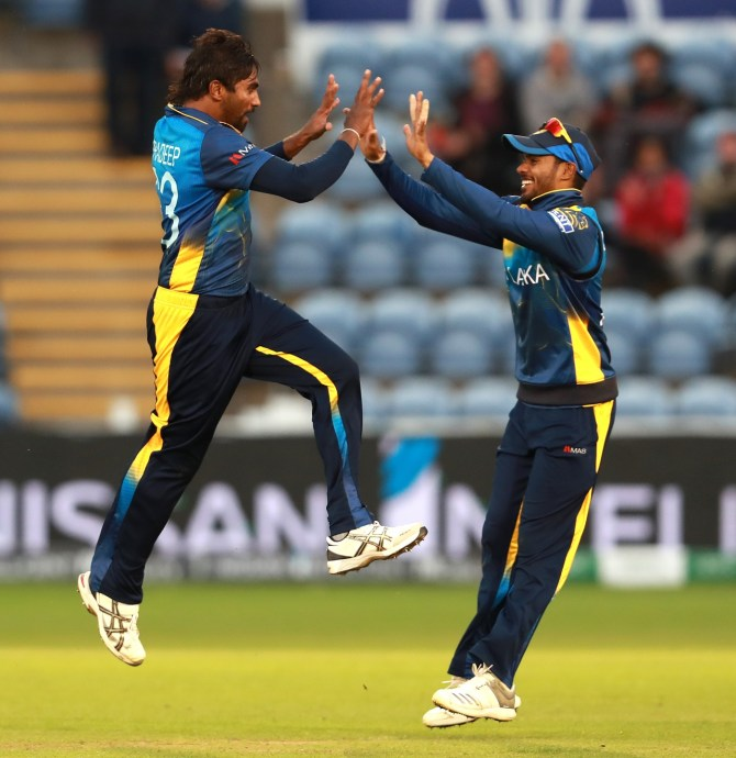 Nuwan Pradeep four wickets Sri Lanka Afghanistan World Cup 7th Match Cardiff cricket