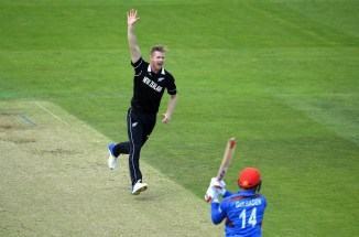 James Neesham five wickets New Zealand Afghanistan World Cup 13th Match Taunton cricket