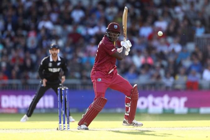 Carlos Brathwaite 101 New Zealand West Indies World Cup 29th Match Manchester cricket