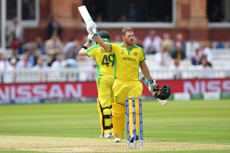 Aaron Finch 100 Australia England World Cup 32nd Match Lord's cricket