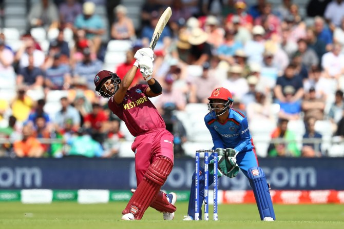 Shai Hope 77 West Indies Afghanistan World Cup 42nd Match Headingley cricket