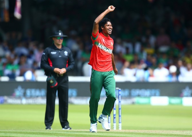 Mustafizur Rahman five wickets Pakistan Bangladesh World Cup 43rd Match Lord's cricket