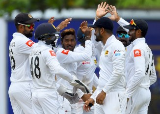 Akila Dananjaya five wickets Sri Lanka New Zealand 1st Test Day 1 Galle cricket