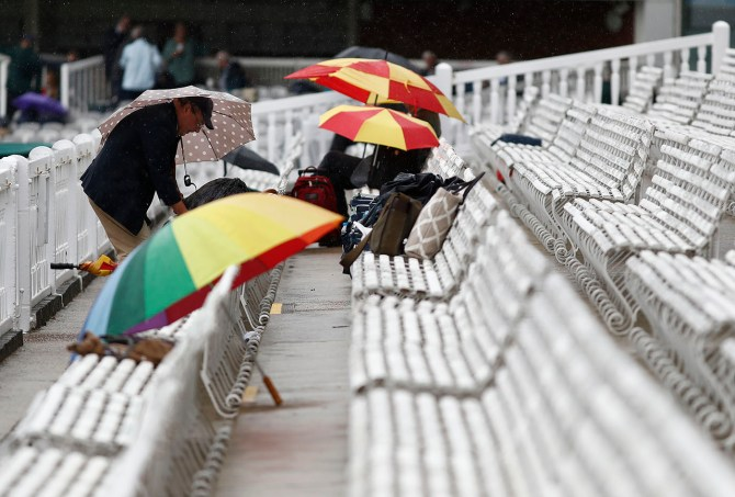 Rain washes out first day of 2nd Ashes Test Lord's cricket
