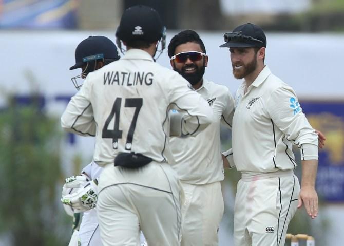 Ajaz Patel five wickets Sri Lanka New Zealand 1st Test Day 2 Galle cricket