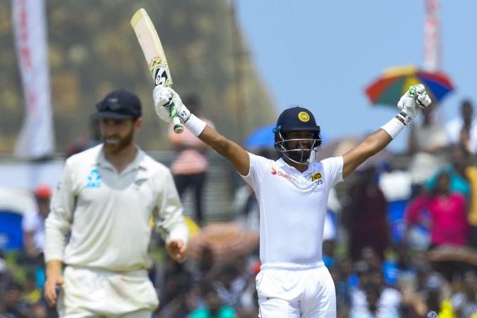 Dimuth Karunaratne 122 Sri Lanka New Zealand 1st Test Day 5 Galle cricket