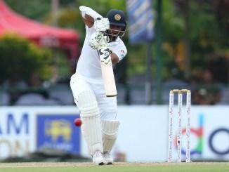 Dimuth Karunaratne 49 not out Sri Lanka New Zealand 2nd Test Day 1 Colombo cricket