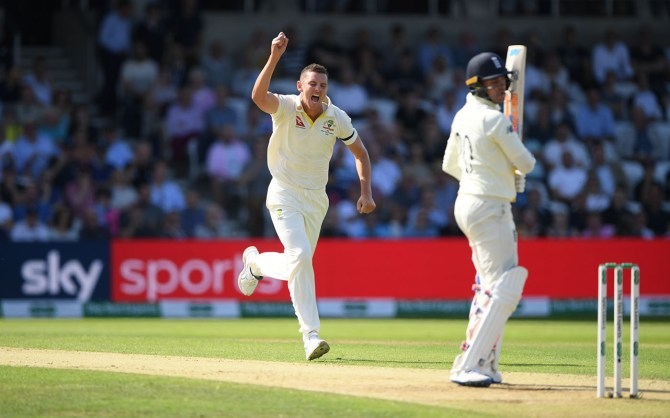 Josh Hazlewood five wickets England Australia 2nd Ashes Test Day 2 Headingley cricket
