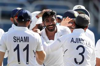 Jasprit Bumrah six wickets West Indies India 2nd Test Day 2 Jamaica cricket