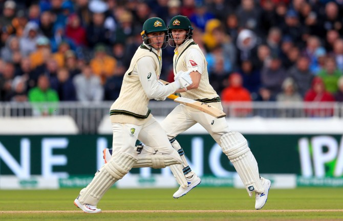 Marnus Labuschagne 67 and Steve Smith 60 not out England Australia 4th Ashes Test Day 1 Manchester cricket