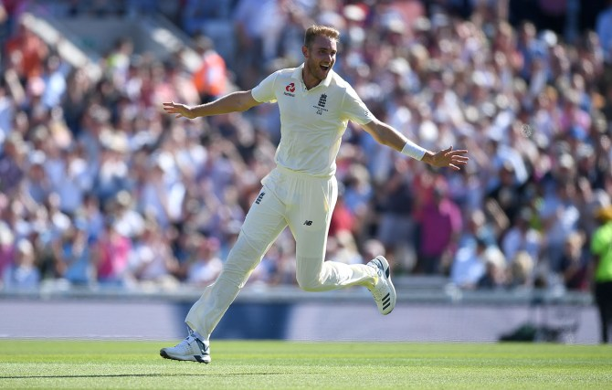 Stuart Broad four wickets England Australia 5th Ashes Test Day 4 The Oval cricket
