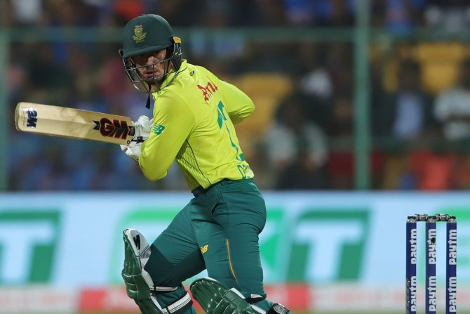 Quinton de Kock 79 not out India South Africa 3rd T20 Bangalore cricket