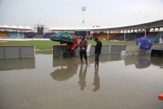 Heavy and persistent rain led to the first ODI between Pakistan and Sri Lanka being washed out Karachi cricket