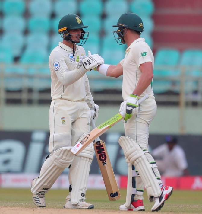 Dean Elgar 160 and Quinton de Kock 111 India South Africa 1st Test Day 3 Visakhapatnam cricket