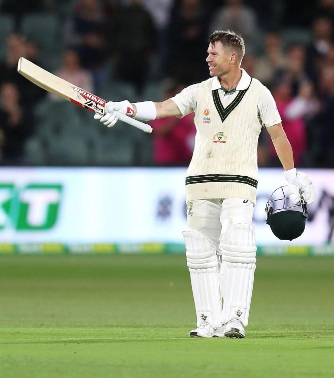 David Warner 166 not out Australia Pakistan 2nd Test Day 1 Adelaide cricket