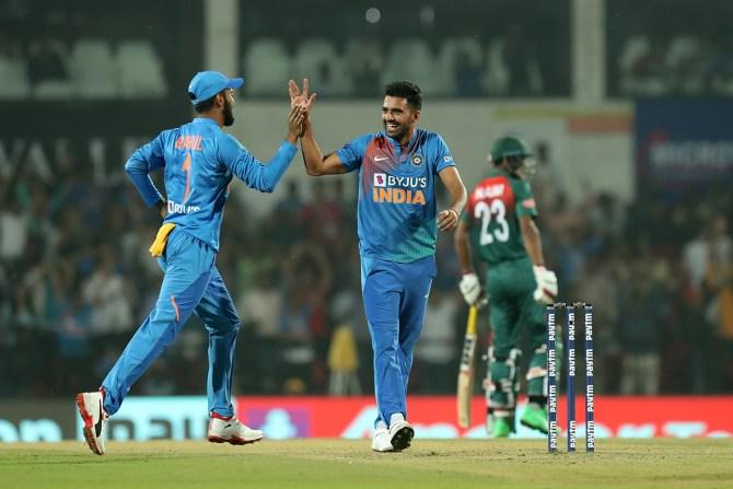 Deepak Chahar record-breaking six wickets India Bangladesh 3rd T20 Nagpur cricket