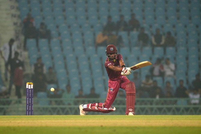 Roston Chase 94 and two wickets Afghanistan West Indies 1st ODI Lucknow cricket