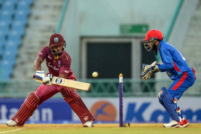 Nicholas Pooran 67 Afghanistan West Indies 2nd ODI Lucknow cricket