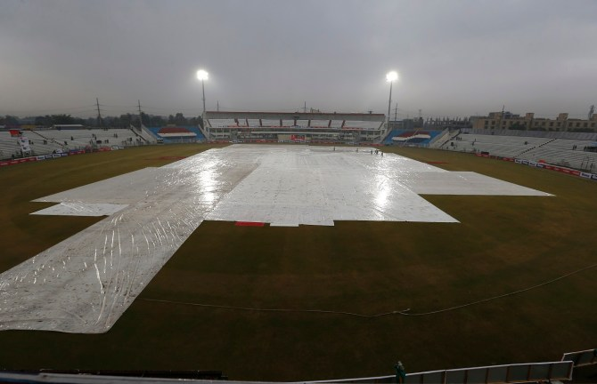 Bad light and a wet outfield limited play to 5.2 overs on the third day Pakistan Sri Lanka Rawalpindi cricket