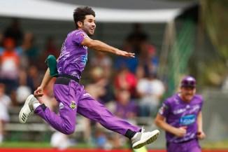 Qais Ahmad four wickets Hobart Hurricanes Sydney Sixers Big Bash League BBL 4th match cricket