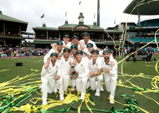 Nathan Lyon took a five-for and David Warner struck his 24th Test century as Australia whitewashed New Zealand 3-0 3rd Test Day 4 Sydney cricket