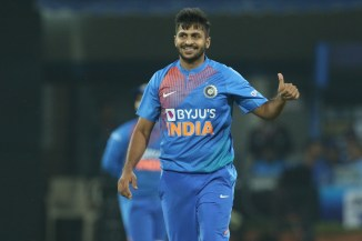 Shardul Thakur three wickets India Sri Lanka 2nd T20 Indore cricket