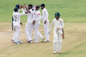 Lasith Embuldeniya five wickets Zimbabwe Sri Lanka 1st Test Day 2 Harare cricket
