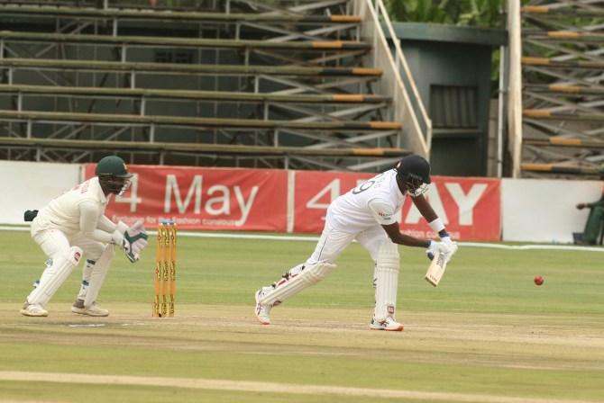 Angelo Mathews 92 not out Zimbabwe Sri Lanka 1st Test Day 3 Harare cricket