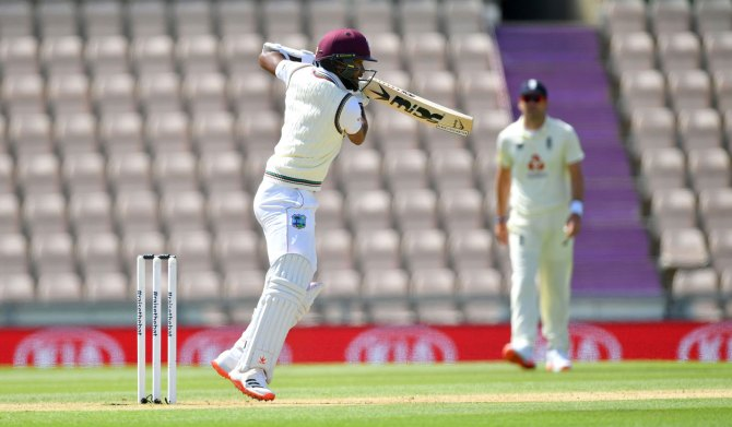 Kraigg Brathwaite 65 England West Indies 1st Test Day 3 Southampton cricket