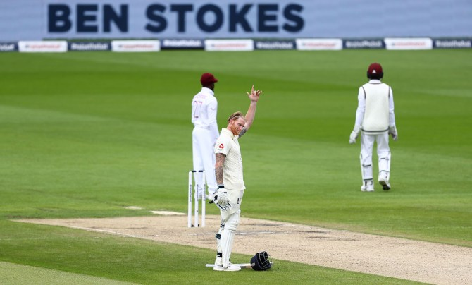 Ben Stokes 176 England West Indies 2nd Test Day 2 Manchester cricket