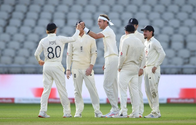 Stuart Broad six-wicket haul England West Indies 3rd Test Day 3 Manchester cricket