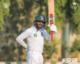 Faisal Iqbal praised Ayaz Tasawar for his good knock and the fact he is currently averaging 222 in the Quaid-e-Azam Trophy