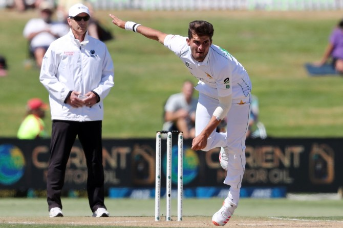 Shaheen Shah Afridi will be monitored for 48 hours after being struck on the helmet