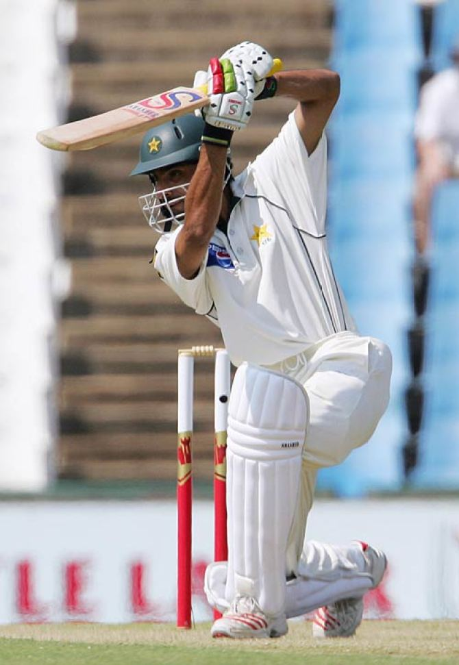 Pakistan batsman Yasir Hameed said fetch that as he remembered a cover drive he played against Glenn McGrath